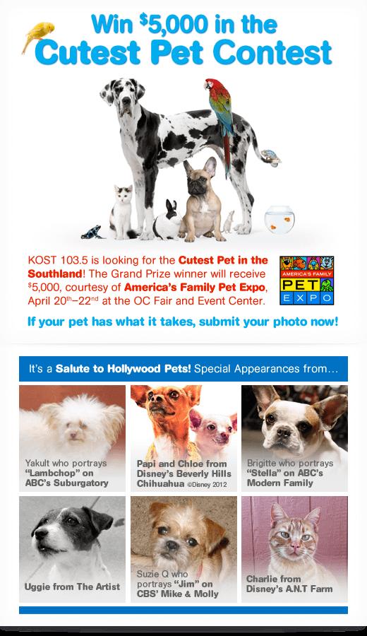 America's Family Pet Expo, Cutest Pet Contest